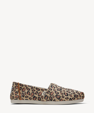 Toms Women's Alpargata Canvas Flats Desert Tan Leopard Size 10 From Sole Society