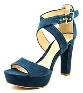 Vince Camuto Shayla Women Open Toe Suede Blue Platform Heel.