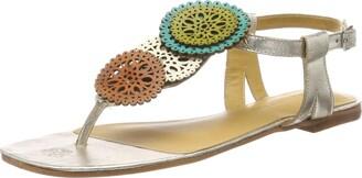 Melvin & Hamilton Women's Vicky 11 Sling Back Sandals Multicolour Cherso-Bisque Onda Sol Vegas-White-Footbed-Tibet-Ls-Natural-Lining-Rich Tan 4 UK