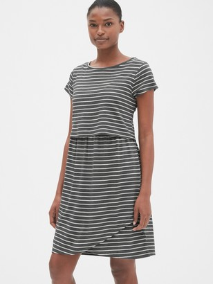 Gap Maternity Stripe Layered Nursing T-Shirt Dress