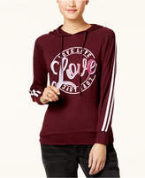 Ultra Flirt Juniors' Varsity Stripe Graphic Hoodie T-Shirt