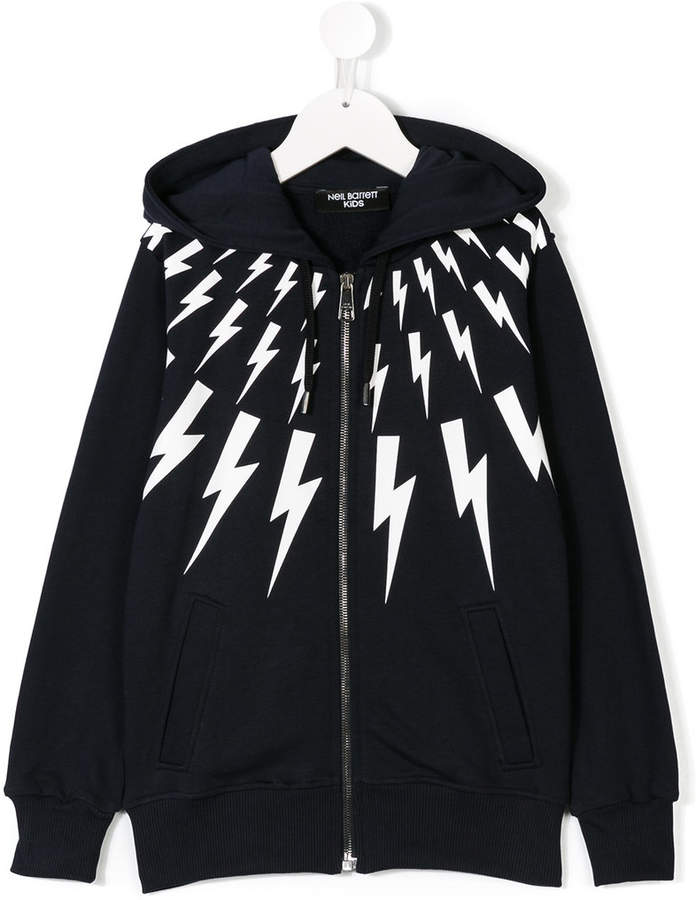 Neil Barrett Kids lightening bold hoodie