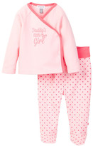 Absorba Daddy's Little Girl Kimono Top & Pant Set (Baby Girls)