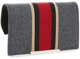 Kate Spade Make It Mine Flannel Stripe Snap-On Accent Flap - Grey