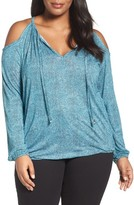 MICHAEL Michael Kors Plus Size Women's Stingray Cold Shoulder Peasant Top