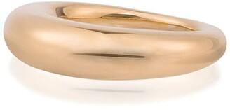 All Blues Fat Snake polished gold vermeil ring
