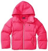 Ralph Lauren Girls' Hooded Puffer Jacket - Sizes S-XL