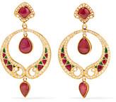Amrapali 14-karat Gold Multi-stone Earrings - one size