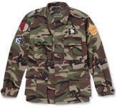 Saint Laurent Camouflage-Print Cotton Field Jacket