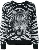 Saint Laurent tiger intarsia jumper - women - Polyamide/Mohair/Wool - S