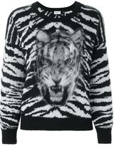Saint Laurent tiger intarsia jumper
