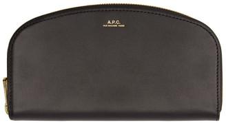A.P.C. Black Demi-Lune Wallet