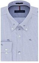 Tommy Hilfiger Men's Non Iron Slim Fit Print Buttondown Collar Dress Shirt