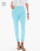 Chico's Sateen Girlfriend Ankle Jeans in Aquatint