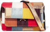 Marni Trunk Patchwork Elaphe Shoulder Bag - Pink