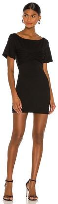 NBD Twisted Short Sleeve Mini Dress