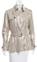 John Galliano Metallic Linen Jacket