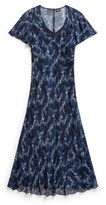 Thumbnail for your product : Double RL Ralph Lauren Floral Crinkled Silk Chiffon Dress
