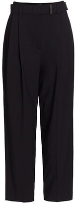 Brunello Cucinelli Tropical Wool Pleated Pants