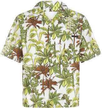 Prada Palm Tree Printed Short-Sleeve Shirt