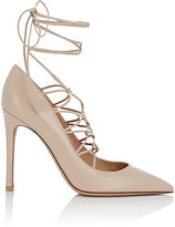 Valentino Women's Rockstud Lace-Up Pumps-CREAM, PINK