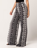 IVY & MAIN Lace Print Womens Wide Leg Pants