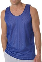 Badger Sportswear Men's Mesh Reversible Tank Top, Royal/White