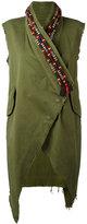 Bazar Deluxe - embroidered collar waistcoat - women - Cotton/Spandex/Elastane - 42