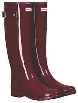 Hunter Refined Tall Wellington Boots, Scarlett Gloss