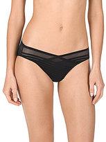 Natori Precision Striped Sheer Mesh Bikini Panty