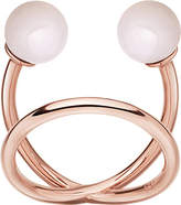Astley Clarke Yves rose-gold vermeil and pink opal ring