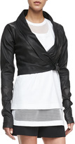 Robert Rodriguez Ballet Stretch Lambskin Leather Jacket