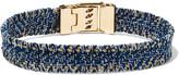 Carolina Bucci Gold-tone woven denim bracelet
