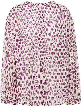Paul & Joe Fil Coupe Leopard-print Cotton Blouse