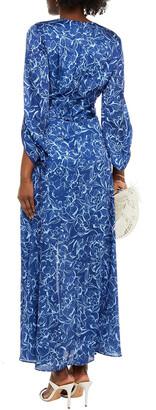 Sachin + Babi Sherri Belted Floral-print Crepon Gown