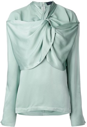 Eudon Choi Gathered Neckline Blouse