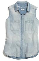 Madewell Sleeveless Chambray Shirt