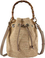 Heidi Klein Savannah Bay Raffia Bamboo Mini Bucket Bag