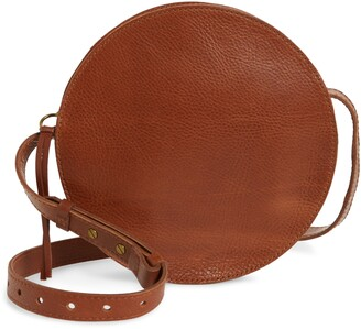 Madewell The Simple Circle Leather Crossbody Bag