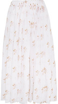 Emilia Wickstead Gail Floral-print Cotton-voile Midi Skirt - UK12
