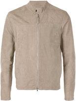 Eleventy banded collar jacket - men - Suede/Cotton/Spandex/Elastane - 48