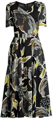 Lafayette 148 New York Roland Silk Floral Dress