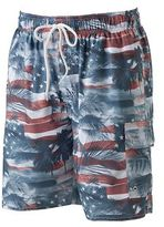 Croft & Barrow Big & Tall Americana Microfiber Swim Trunks