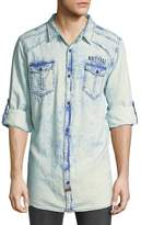 Buffalo David Bitton Men's Faded Denim Button-Down Shirt