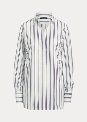 Ralph Lauren Striped Cotton Dobby Shirt