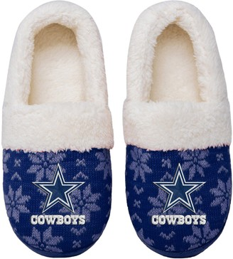 Women's Dallas Cowboys Ugly Knit Moccasin Slippers