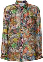 Moschino patch pattern shirt