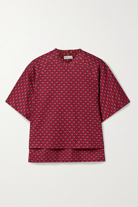Rosetta Getty Cocoon Jacquard-knit Top - Red