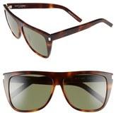 Saint Laurent Women's 59Mm Sunglasses - Light Havana