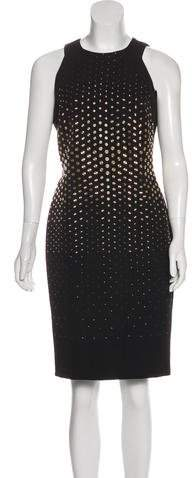 Versace Embellished Sheath Dress
